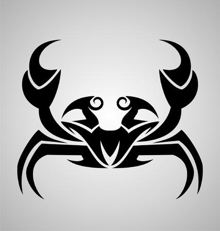 Crab Tattoo Design Vector