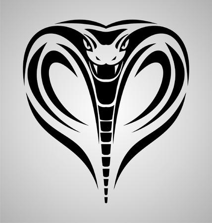 cobra: King Cobra Jefe Tribal Vectores