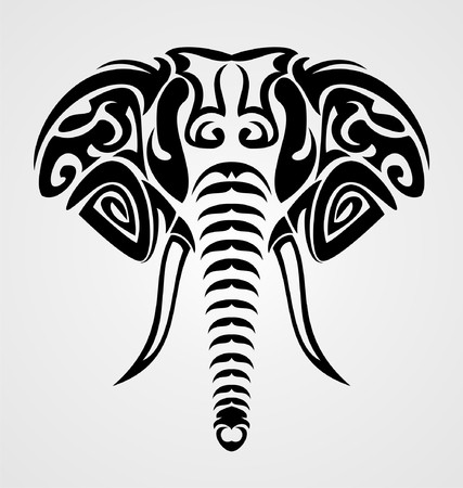 Tribal Elephant Vector