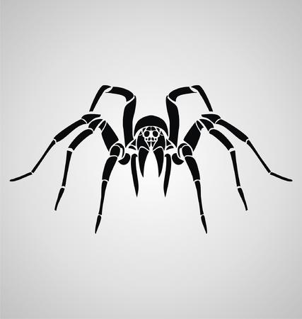 Tribal Spider Vector