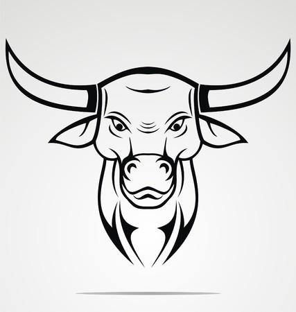 Tribal Cow Head Vector