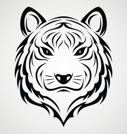 tatouage visage: Visage Tiger Tattoo