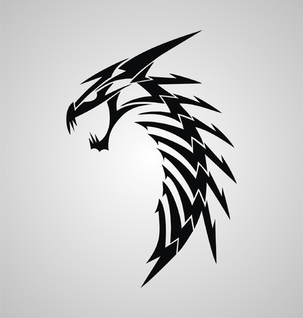 chinesse: Tribal Dragon Illustration