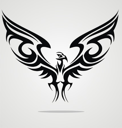 tatouage oiseau: Aigle Oiseau Design Tattoo