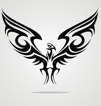 tatuaje de aves: P�jaro del �guila del dise�o del tatuaje