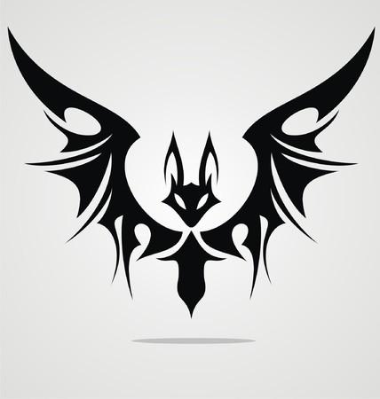 tattoo girl: Bat dise�o del tatuaje