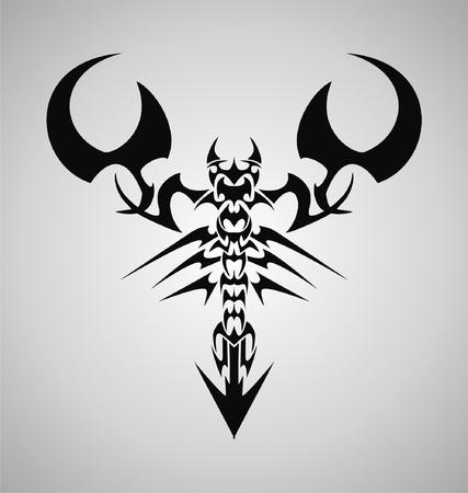Tribal Scorpion Vector