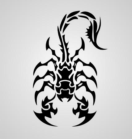 scorpion: Scorpions tribaux Illustration