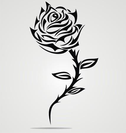 love rose: Flor de Rose Tattoo Dise�o