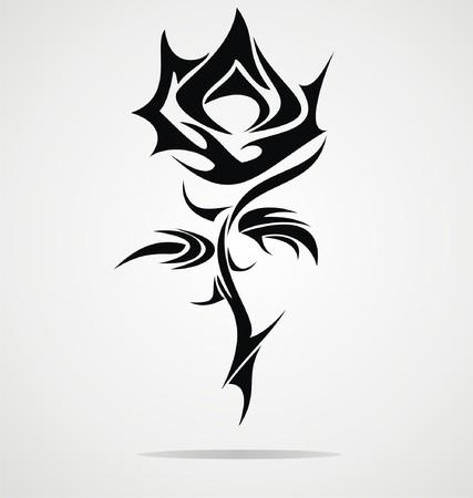 flower rose: Rose Flower Tattoo Design