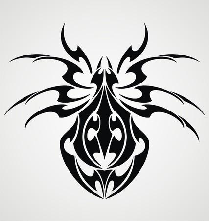 Spiders Tattoo Design Vector