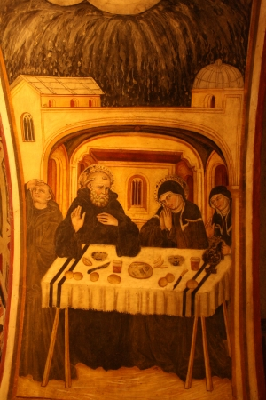 The picture from the wall of st  Gregory s Chapel
