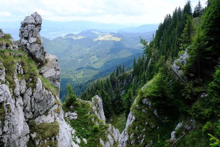 Romania, Romanian Carpathians - views with interesting rocky formations of the Piatra Craiului mountain range