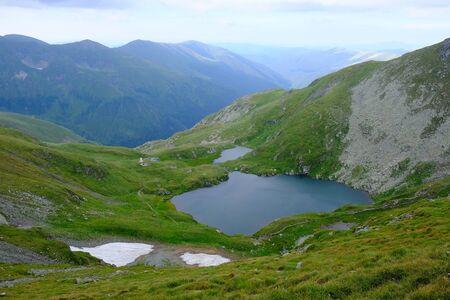 Romania, Romanian Carpathians - Fagaras Mountains, valley Izvorul Iezerul Caprei with Lake Capra Standard-Bild
