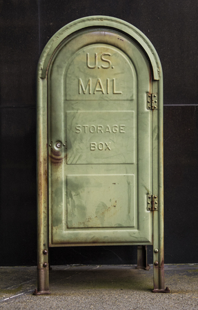 Old US mail storage box.