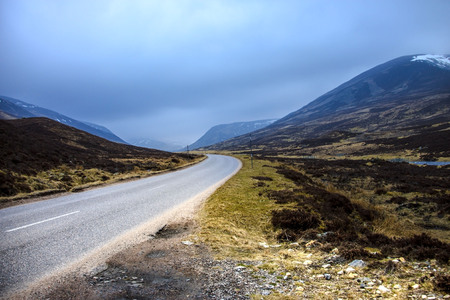 Scotland. Old Military Road, Braemar, Aberdeenshire, Cairngorms National Park. Stock Photo