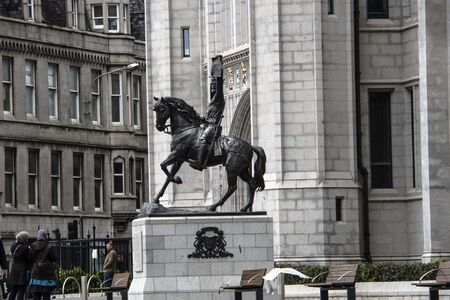 Robert the Bruce - King of Scots monument. Aberdeen, Scotland, UK.