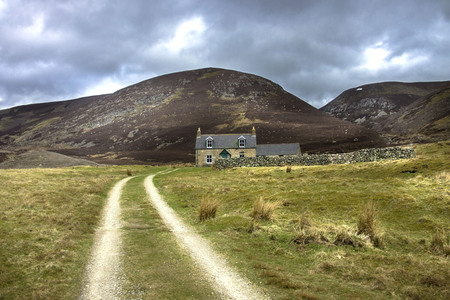 House on the route to Mount Keen. Angus, Aberdeenshire, Scotland Redakční
