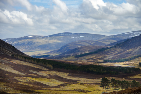 Cairngorm Mountains. Angus, Aberdeenshire, Scotland, UK.