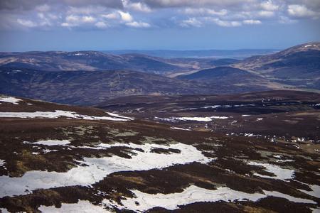 Cairngorms, Angus, Aberdeenshire, Scotland. View from Mount Keen