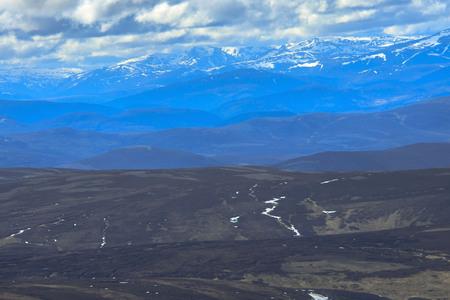 Cairngorm Mountains, Angus, Aberdeenshire, Scotland, UK. View from Mount Keen.