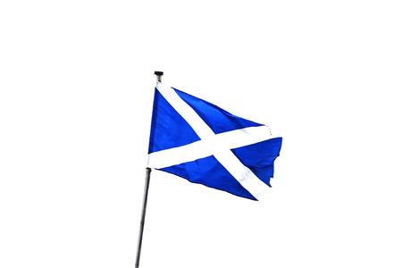 Flag of Scotland on white background. St Andrew's Cross