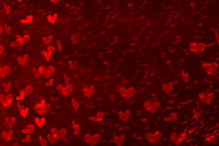 Many hearts on a red background Stock Photo