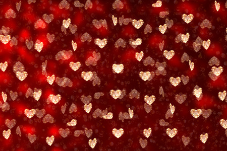 Love background. Valentines Day. Many hearts on a red background.