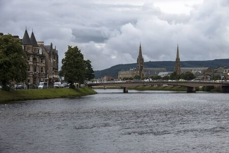 Inverness cityscape. Highlands, Scotland, UK. Editorial