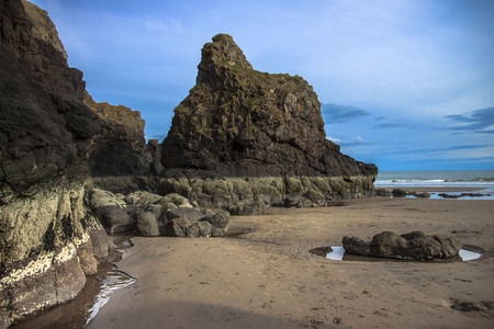St Cyrus Beach. Aberdeenshire, Scotland, UK