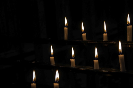 Candlelights in a dark