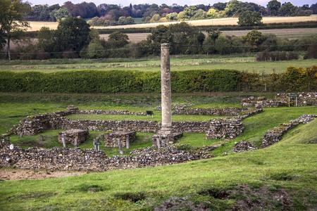 Roman Theatre of Verulamium. St Albans. Hertfordshire, England, UK 写真素材