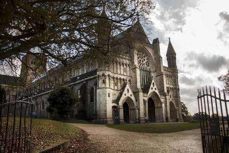 St Albans Cathedral. Hertfordshire, England, UK Reklamní fotografie