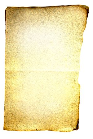 Very old blank sheet of paper isolated on white background Stock Photo