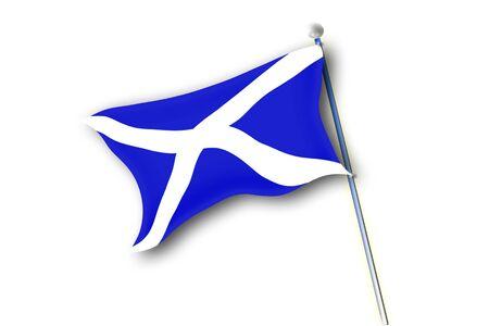 Flag of Scotland isolated on white background