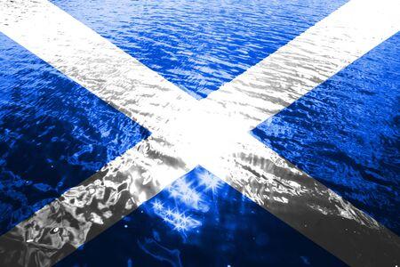 Shining underwater flag of scotland