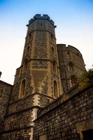 Detail of Windsor Castle. Berkshire, England, United Kingdom.