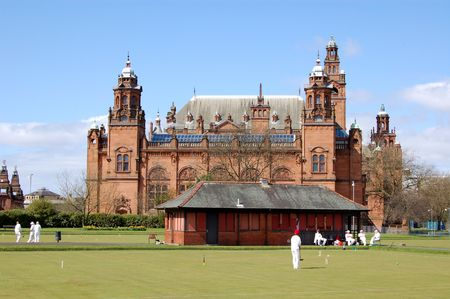 played: Croquet played in front of the Kelvingrove Art Gallery, Glasgow
