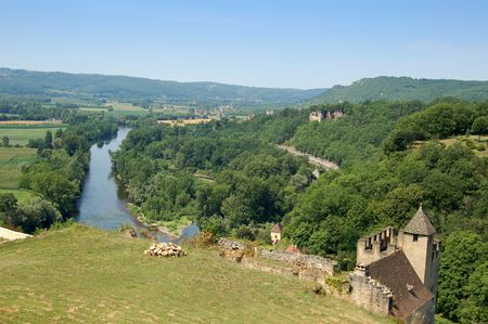 Dordogne river from the parapet of Chateau de Beynac photo