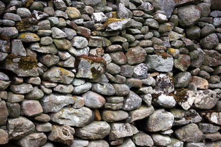 drystone: Drystone wall, Yorkshire. A traditional construction found in most of Yorkshire. Stock Photo