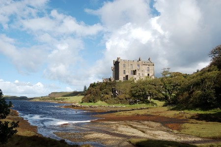 Dunvegan Castle and harbour on the Island of Skye, Scotland photo