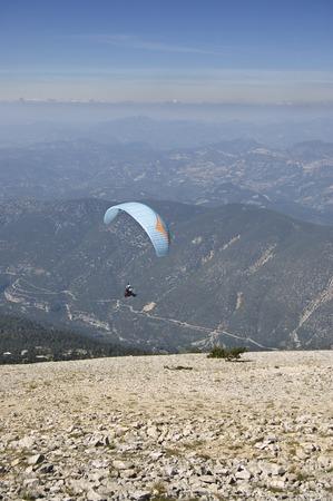 paraglider: Ventoux paraglider flypast