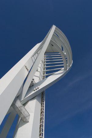 portsmouth: Spinnaker tower, Portsmouth Harbor, England. Stock Photo
