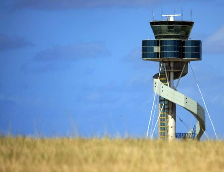 control tower: Control Tower at Sydney International Airport Stock Photo