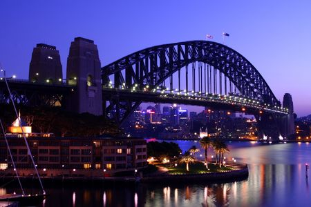Sydney Harbour Bridge early in the morning