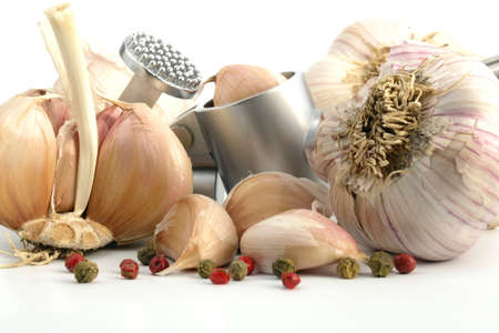 fresh garlic: garlic Stock Photo