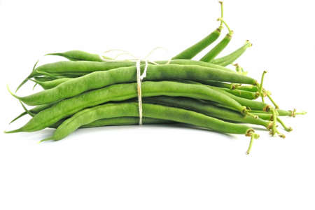 Green beans isolated on white background Stock fotó