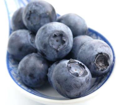 bilberries: sweet bilberries on white background