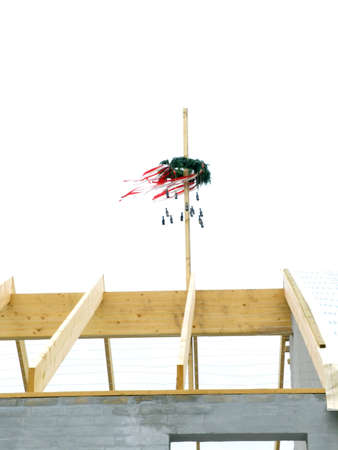House Construction  - perch on solid background Stock Photo - 703593