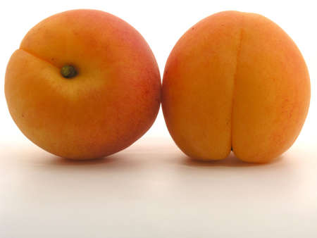 apricots isolated on white background photo